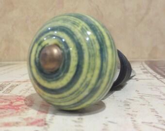 Green Swirl Wine Bottle Stopper