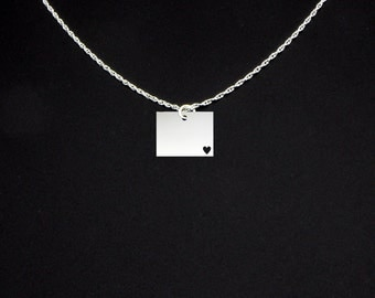 Wyoming Necklace - Wyoming Jewelry - Wyoming Gift