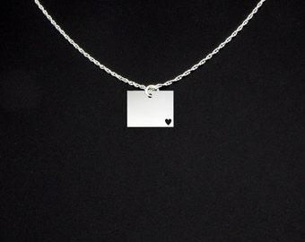 Wyoming Necklace - Wyoming Jewelry - Wyoming Gift
