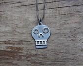 Silver Calavera pendant #1