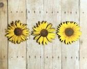 Sunflower Brooch Garden Jewelry Yellow