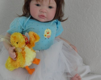 "Reborn 19"" Infant Baby Girl Doll ""Shaylyn"" from Shyann Sculpt"