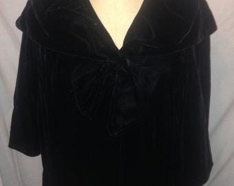 Vintage 80s Heavy Velvet Cloak ss14