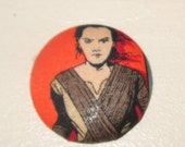 Rey Star Wars Force Awakens Badge Reel ID Holder Disney Fabric Nurse RN Doctor Geek Drone Teacher Lanyard Fabric Button Accessory