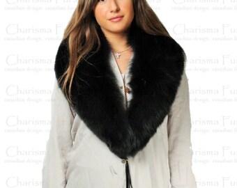 Canadian Black Fox Fur Collar