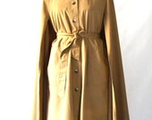 Vintage Tan Cape Trench Coat