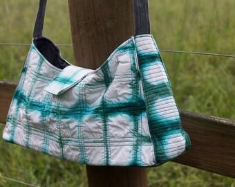 Shibori Quilted Hobo Bag