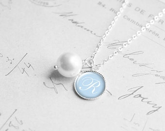 Personalized Gift, Initial Necklace, Will You Be My Bridesmaid Gift, Asking Bridesmaid, Flower Girl Gift, Wedding Jewelry, N167b