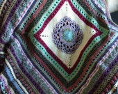Stitch Sampler Crochet Afghan in Scraps - Throw Blanket