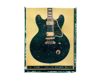 BB King Lucille gibson guitar art print / music gift / rock n roll art / music room decor / guitar gift / man cave art
