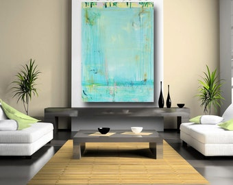 Modern Abstract Painting contemporary art painting blue abstract original blue painting large acrylic 36 x 48 canvas art by Cheryl Wasilow