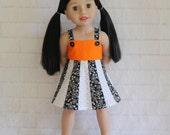 Totally Summer Panel Dress Orange White & Black- Dolls Clothes for Australian Girl dolls