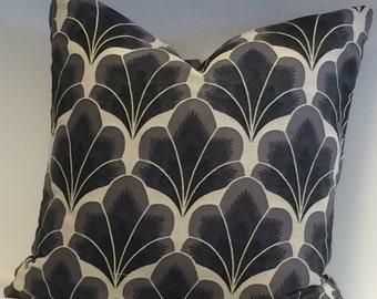 MOKUM DESIGNER FABRIC in Jacquard Art Deco Design Pillow Cover