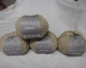 Lot of 4 Nashua Handknits Sonora Yarn 8008 Gold Silk Blend Discontinued