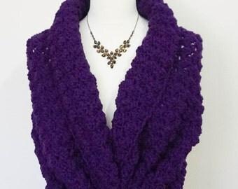Purple Wedding Shawl, Bridal Wrap, Romantic Crochet Shawl, Winter Wedding Cover Up, Bridal Cape, Warming Wedding Bolero Jacket, Soft Capelet
