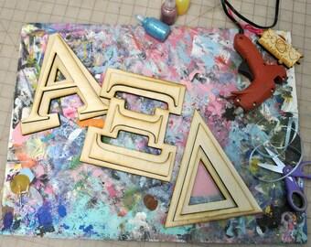 BeArtXi Wooden Greek Alpha Xi Delta Letters. (2 Layers)