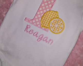 First Birthday Lemonade Shirt or Bodysuit ~ Personalized For You