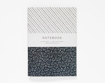 THE GLORIA notebook A5 / pattern notebook / stripe notebook / journal / sketchbook
