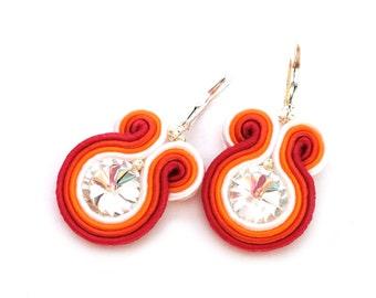 Bridesmaids earrings - soutache earrings - bridesmaids earrings - birthday gift - bridesmaids gift - african wedding - wholesale jewelry