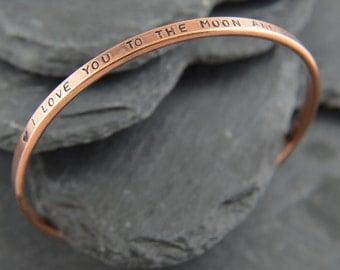 Pure Copper Bangle, Copper bracelet, Copper jewelry, Personalized copper, Copper anniversary gift, Copper gift, 7th anniversary gift