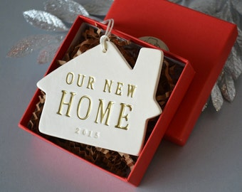 Personalized Christmas Ornament - Our New Home 2016 - Gift Boxed and Ready to Give