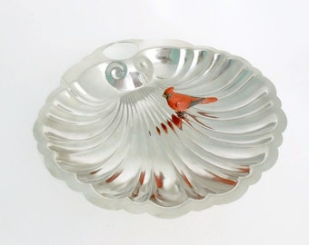 Stainless Steel Scallop Shell Bowl, Adcraft Serving Dish, Silver Fruit Bowl