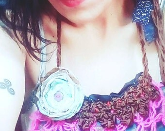 Handmade necklace, tribal style, adjustable closure, versatile. Pink Baby. Made in love by Zestria