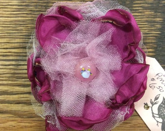 Pink and tulle flower