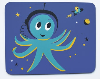Outer Space Octopus Melamine Placemat