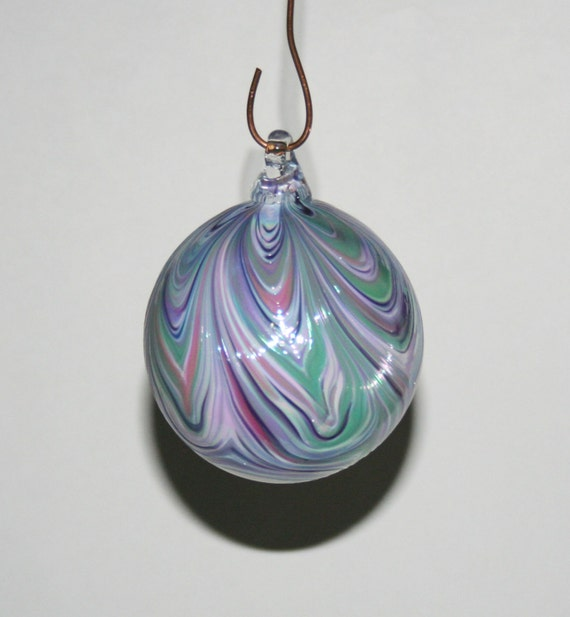 Hand Blown Glass Christmas Tree Ornaments : Hand blown glass christmas ornaments white by kevinfultonglass