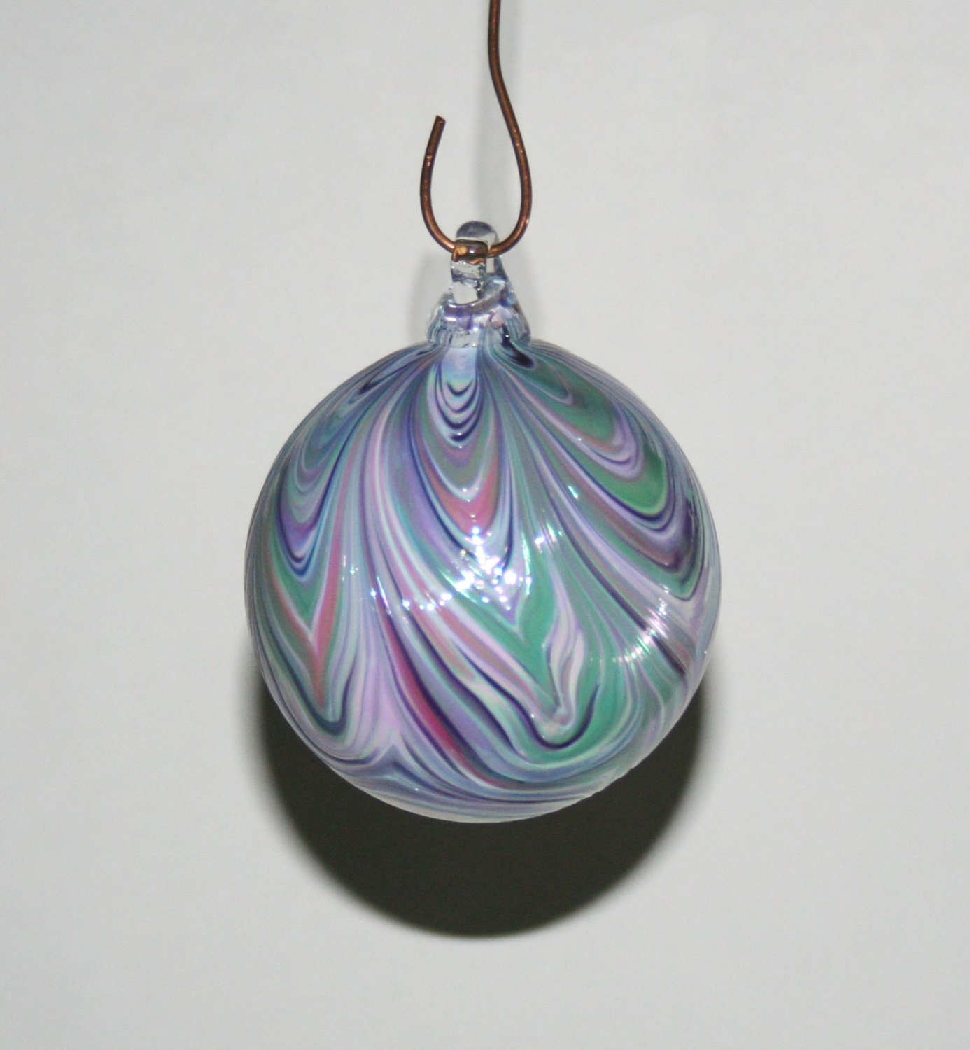 Hand blown glass christmas ornaments white by kevinfultonglass