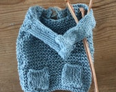 Baby blue knit sweater for blythe doll