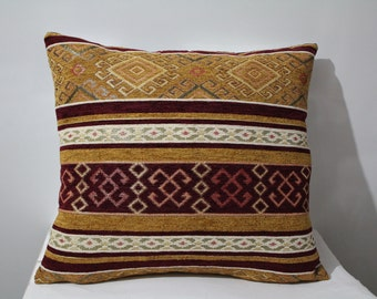Traditional Turkish Kilim Pillow Cover , Kilim Pillow Case , Ethnic Kilim Pillow,Two Sided Pillow Case