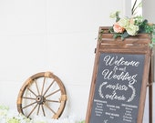 Wedding Bridal Party Program List Welcome Sign Decal - Wall Decal Custom Vinyl Art Stickers for Weddings