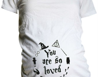 You Are So Loved Maternity Shirt / Harry Potter Inspired Maternity T Shirt  / Harry Potter Baby  / Harry Potter Baby Shower Gift