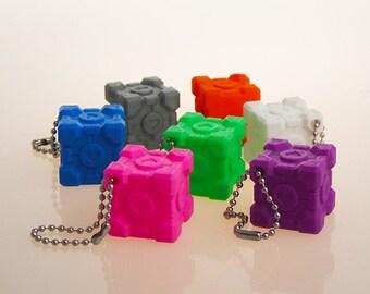 Portal - Companion Cube - Keychain