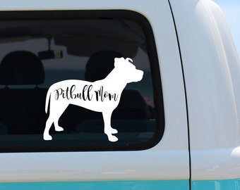 Pitbull Mom Vinyl Decal Sticker - Laptop Sticker - Car Sticker - Window Decal - Pitty mom