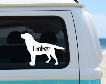 Labrador Decal, Lab Decal, Labrador Retriever Decal, Vinyl Decal, Car Decal, Personalized Decal, Lab Lover Decal, Laptop Decal, Lab Mom