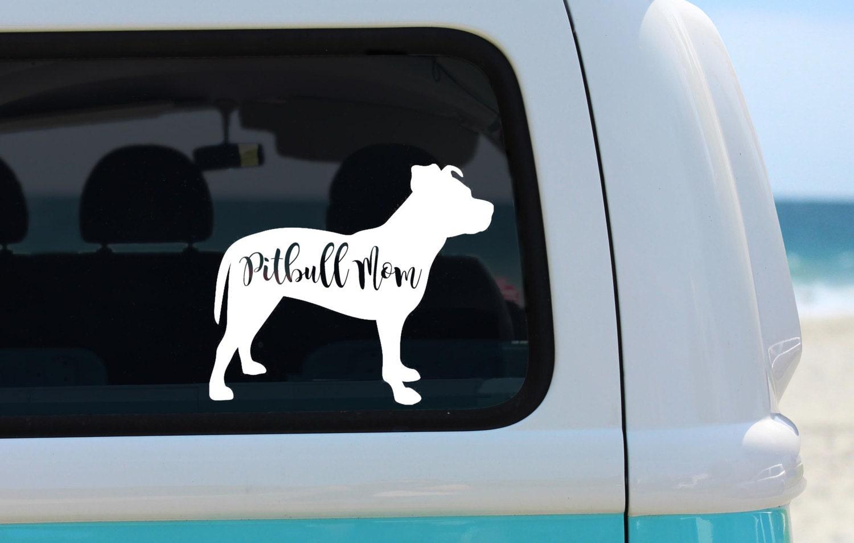 Pitbull Mom Vinyl Decal Sticker Laptop Sticker Car Sticker