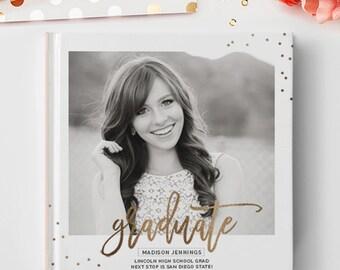 Senior Photo Book Cover Template, Senior Album Template, Senior Template, Senior Book Templates, Senior Album Templates BC130