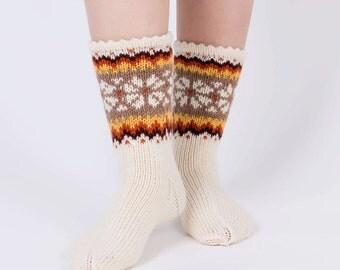Knitted wool socks Knit wool socks US 7 1/2 / EU 38 / UK 5