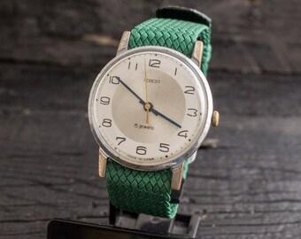 Vintage Pobeda watch, vintage soviet mens watch, vintage men's watch, soviet mechanical watch, ussr cccp mens watch