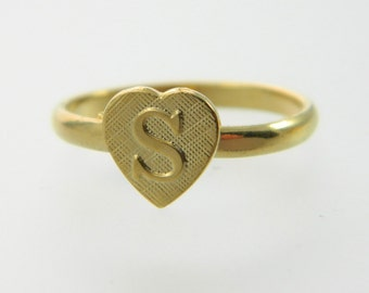 Personalized Ring - V0169 - Gold Initial Ring