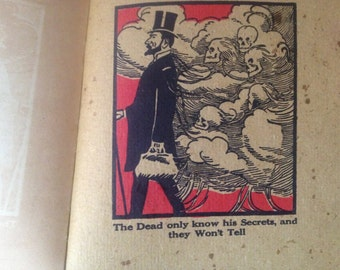 1909 The Doctors Book Illustrated by Elbert Hubbard, A Satire Drama, Halloween Decor