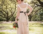 Cream Lace Bohemian Wedding Dress Bridal Gown Long Bridal Wedding Gown Gypsy Long Dress Champagne Wedding Dress Handmade by SuzannaM Designs