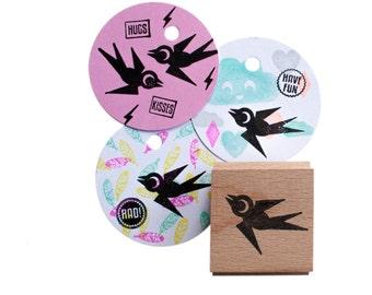 Swallow Bird  (facing left) stamp