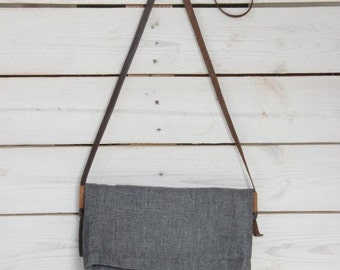 Gray cross body bag, Grey Purse, Side bag, Small cross body bag, Vegan gray messenger, Hipster purse, Grey messenger bag, Across body purse