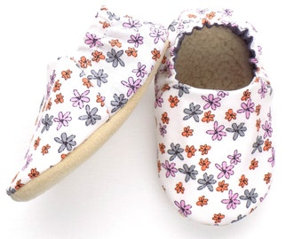 Flowers Baby Girl Shoes, Soft Sole Baby Shoes, Baby Booties, Baby Girl Soft Shoes, Flowers Baby Shoes, Slip On Baby Shoes, Baby Girl Gift