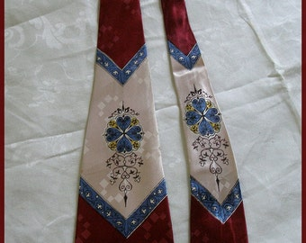 Vintage Tie Vintage Necktie 1940's Swing Tie
