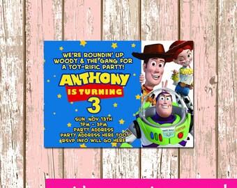 Toy Story Invitation Digital File 4X6 or 5X7
